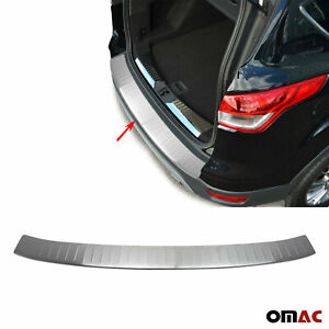 Ford Escape Kuga 2013 Brushed Chrome Rear Bumper Sill Cover Protector S Steel