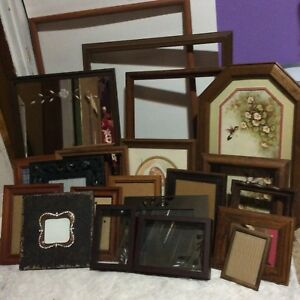 Large Vintage Lot Wood Metal Frames