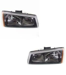 New Headlights Pair For Chevy Silverado Truck 2005 2006 Left Right 2007 Classic