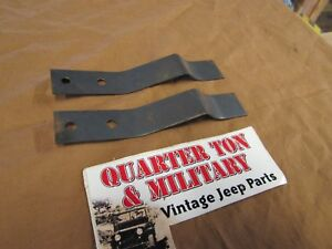 Jeep Willys Mb Gpw M38 M38a1 Rear Seat Spring Clip Pair New Us Made