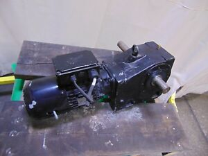 Nord 1 5 Hp Electric Motor And Gearbox Speed Reducer 9 6 Rpm 208v 1 5