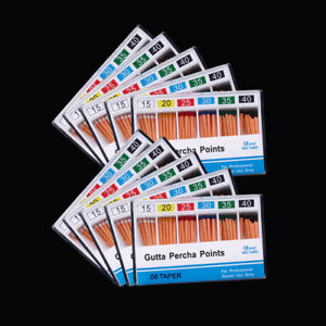 100 dental Gutta Percha Point 0 06 15 40 60 Point box Zinc Oxide Barium Sulfate
