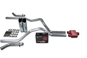 Dodge Ram 1500 94 03 2 5 Dual Exhaust Kits Cherry Bomb Extreme Slash Tip Corner