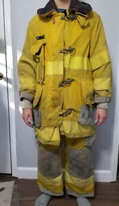 Authentic Cairns And Brothers Firefighter Turnout Bunker Gear 89 90 Size 40 32