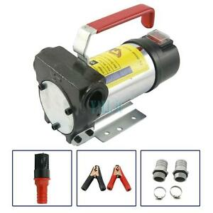 12v Fuel Oil Fuel Transfer Pump Kit For Gasoline Kerosene Diesel 20gpm 3600r min