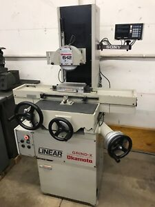 Okamoto Linear L 612b 6 x12 Surface Grinder Sony Dro Mag Chuck Mitsui Harig