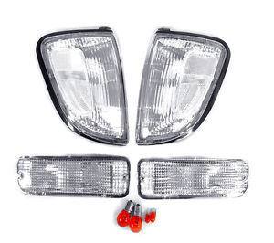 Depo Clear Corner Lights Bumper Signal Lights For 1997 2000 Toyota Tacoma 2wd