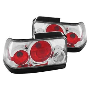 For Toyota Corolla 1993 1997 Anzo Chrome red Euro Tail Lights