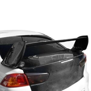 For Mitsubishi Lancer 08 15 Gt Concept Style Fiberglass Rear Wing Unpainted