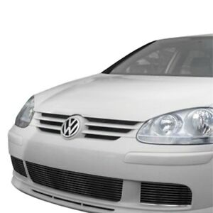 For Volkswagen Rabbit 2007 2009 Apg 3 pc Black Horizontal Billet Bumper Grille