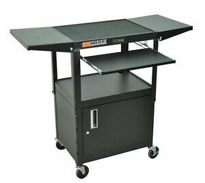 Luxor Compact Computer Workstation Av Cart Black