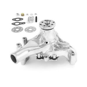 Chevy Sbc 350 High Volume Aluminum Long Water Pump Polished