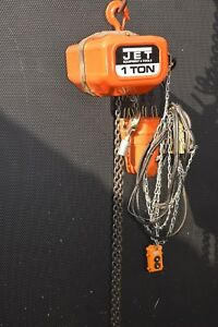 Jet 1ss 3 20 Electric Chain Hoist 1 Ton Capacity 20ft Lift 3 Phase 230 460v