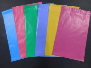 Color Poly Mailer 7 5x10 5 Pink Blue Purple Raspberry Green Yellow Shipping Bag