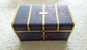 Rare 1840 S Leather And Brass Bound Travelling Light Patent Trunk By T Handford