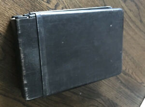 Vintage Leather Accounting Ledger Book Charles R Hadley Co New With Inserts
