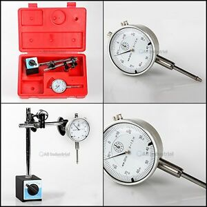 Dial Indicator Set With On off Magnetic Base includes 9 1 2 h Base control Arm