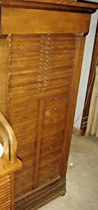 Antique Quarter Sawn Oak Multi Drawer File Cabinet 7906