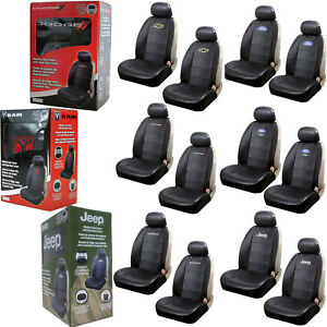 New Black Synthetic Leather Sideless Car Truck 2 Front Seat Covers Set