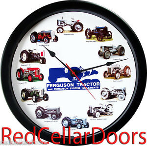 New Massey Ferguson Tractor Clock 12 Tractors Massive 14 Wheel Dial Blue Logo