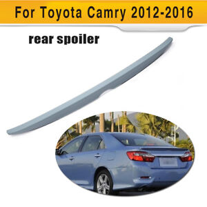 Abs Auto Rear Truck Spoiler Wing Unpainted Gray Fit For Toyota Camry 2012 2016