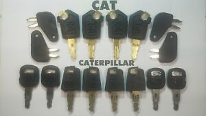 16 Master Keys Cat Caterpillar Heavy Equipment 4 Of Each Model Key