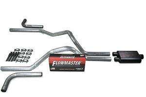 Chevy Gmc 1500 07 14 2 5 Dual Exhaust Kits Flowmaster 40 Series Side Exit