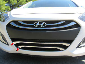For 2013 2015 Hyundai Elantra 4 door Gt 2 Pc Ss Front Grille Accent Trim