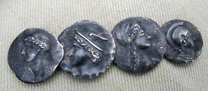 Ancient Roman Empire Silver Coins Made Into Brooch Commodore S Estate 1