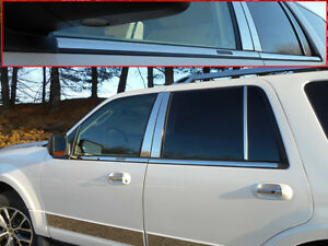 For 2008 2017 Ford Expedition 4 door Suv 4 Pc Ss Window Sill Trim Set