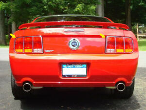 For 2005 2006 Ford Mustang 2 door 2 Pc Ss Tail Light Ring Accent Trim