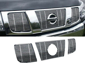 For 2004 2007 Nissan Pathfinder 4 Door Suv 3 Pc Billet Grille Overlay