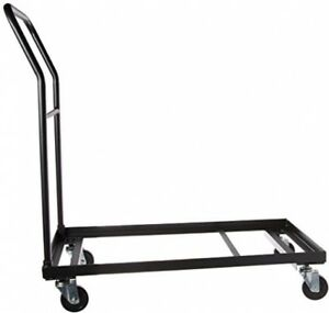 Folding Chair Dolly Wheeled Cart Transport For 36 Plastic Chairs Durable Steel