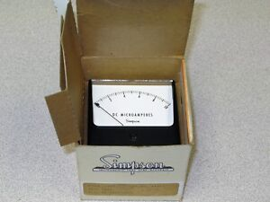 Simpson 04359 Analog Panel Meter 0 10 Dc Microamps
