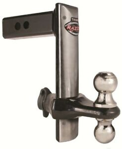 Trz8sfp Trimax Razor Stainless Face 8 Adjustable Ball Mount Hitch