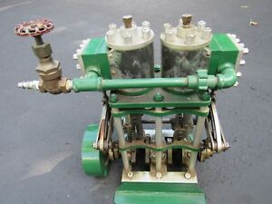 Antique Original Two Cylinder Live Steam Launch Engine Live Steam Boat Motor
