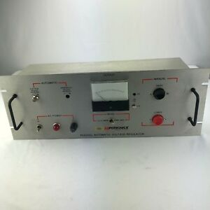 Hipotronics Peschel Automatic Voltage Regulator Hubbell Haefely Pvr Tested