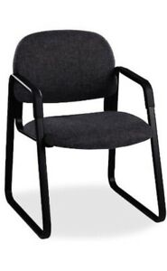 Hon Sled Base Office Guest Arm Chair Model 4008ab10t Black