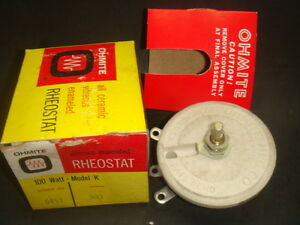 New Ohmite Rheostat 0453 100 Watt Model K 300 Ohms New In Box