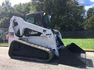 Bobcat T300 Rubber Track Skid Steer Loader Switchable Controls Cab Ac Bob Cat