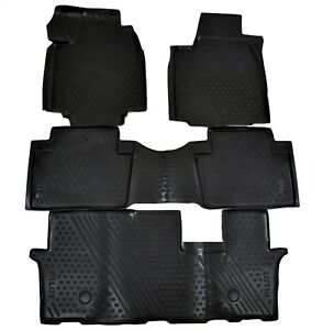Premium 3d Design Floor Liners Mats All Weather For Honda Pilot 2008 2015
