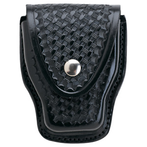 Aker Leather 508 Handcuff Case Basket Weave A508 bw h