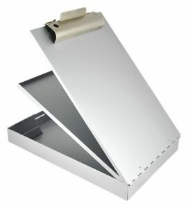 Saunders Legal size Clipboard With High Capacity Clip Aluminum Silver 21018