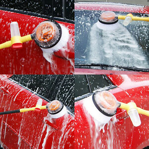 Car Wash Brush Automatic Rotate Switch Spray Water Flow Foam Brusher