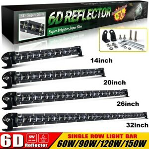 Single Row 6d Led Work Light Bar Combo Beam For Offroad Volvo Ford Jeep Toyota