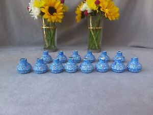 Lot Of 14 Vintage Miniature Enameled Over Copper Vase Persian Hand Painted