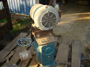 Dodge Tigear Worm Gear Reducer Mo54268002zr With 3 4 Hp Electric Motor