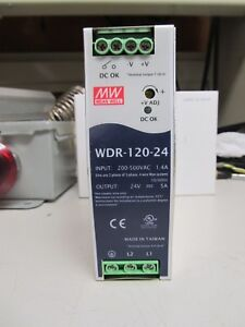 Meanwell Wdr 120 24 Dc Power Supply 24v 5a 120w 200 500vac Input
