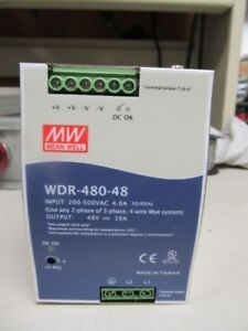 Meanwell Wdr 480 48 Dc Power Supply 48v 10a 120w 200 500vac Input