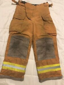 Lion Body Guard Firefighter Turnout Gear Bunker Turnout Pants W Liner 34 X 28